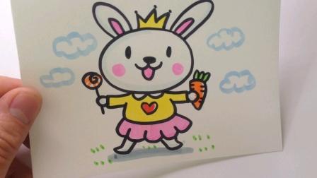 动物简笔画:可爱的小兔子