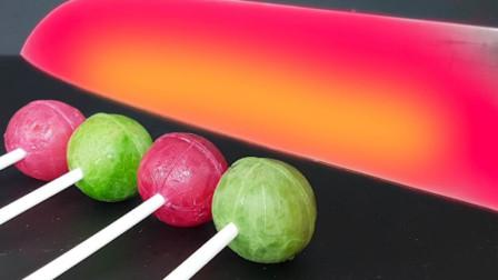 将1000度的水果刀割向棒棒糖,会发生什么事情呢?结果让人意外