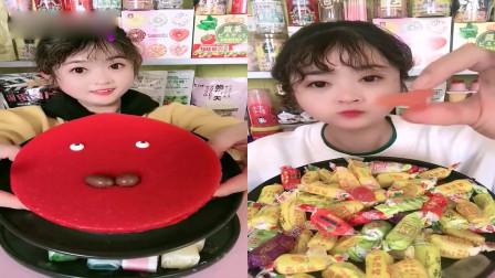 小姐姐直播吃:高粱饴+慕斯蛋糕,一口下去超满足,是我儿时向往的生活!
