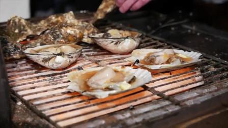 街拍:日本街头美食,海鲜烧烤