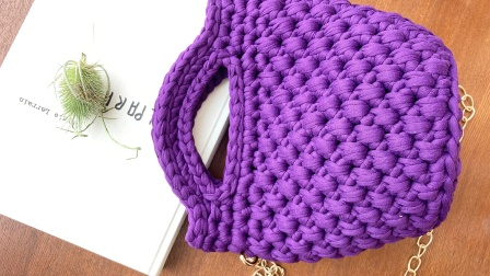第十二集:湘湘布艺品布条线手工编织水桶包菠萝包视频教程