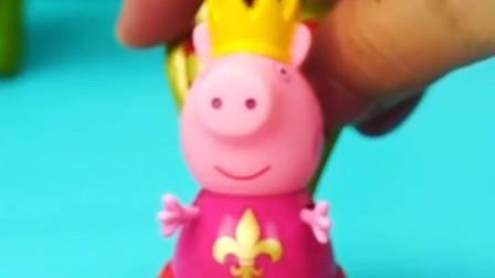 小猪佩奇过生日,准备了蛋糕和水果,邀请朋友艾米丽来吃饭