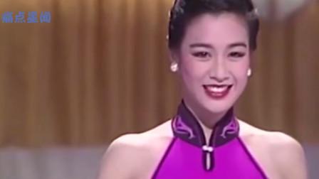 1988年钟丽缇选美画面,身材惊为天人,小12岁张伦硕怎能不心动?