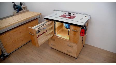 木工大师自制工作台,制作过程堪称艺术品诞生记!