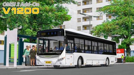 巴士模拟2 - V1200 #12:两站堵晚十分钟 油耗重回解放前 | OMSI 2 广佛市 966(2/2)