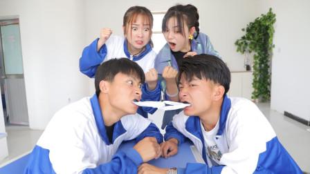 老师组织拔河比赛,谁知学渣竟掉了5颗牙,怎么回事?