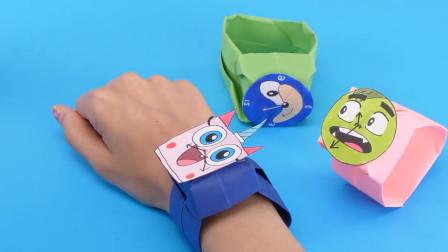 立体手工折叠彩纸画制作玩具视频教程大全  手表