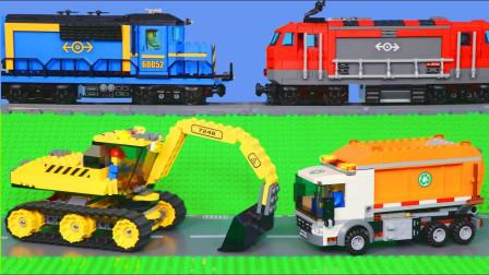 乐高汽车玩具故事:好奇!在现实生活中你见过哪些工程车呢?