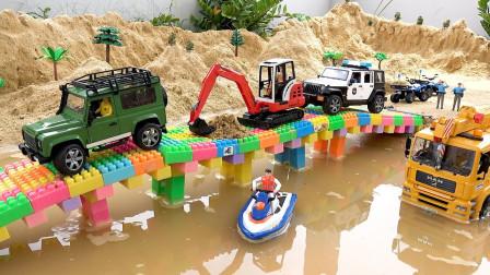 乐高汽车玩具故事:发生什么事?警察为何不让车辆通行呢?