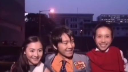 """星爷当年宣传""""喜剧之王""""的时候,那时候的张柏芝跟星爷还很年轻!"""