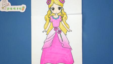 手绘精灵梦叶罗丽灵公主简笔画教程,好学简单 女孩子别错过