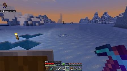 我的世界手机游戏 第一季 电脑版 踩在冰上斗僵尸