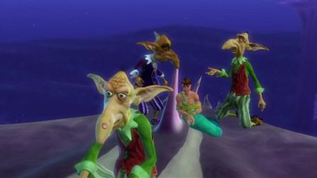 芭比彩虹仙子:拿露王子一直迷惑蘑菇头,这时艾莉娜也到了人鱼国