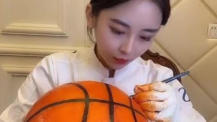糖艺制作可以吃的篮球