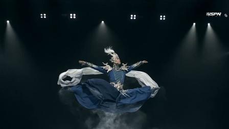 黎星中国舞《五虎》,空中定格动作真的帅,一字马摆成了土字