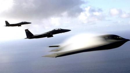 史无前例!美战略轰炸机高调飞入俄内海,大批F22隐形战机护航