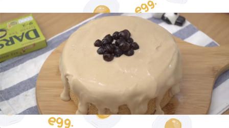 自制奶茶蛋糕-泡泡茶蛋糕