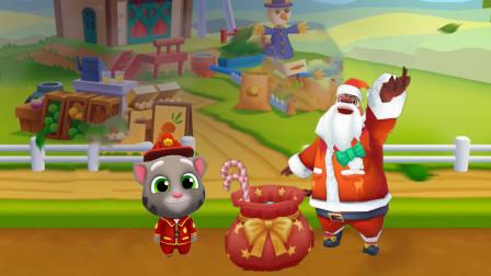 汤姆猫跑酷游戏 熊出没之圣诞熊大vs圣诞汤姆猫跑酷