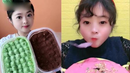 小姐姐直播吃;酸奶麦片+蛋糕盒子,一口下去超过瘾,是我向往的生活
