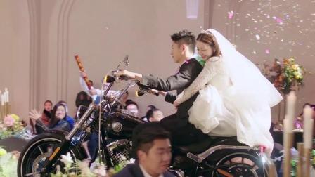 宋凛周放摩托车婚礼入场
