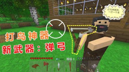 生存战争野人岛105:制作新武器【弹弓】,打鸟只需一个石头