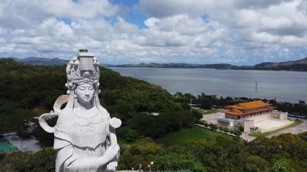 广东汕尾凤山妈祖石雕像,汕尾港标志性建筑