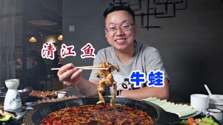 保定地道的重庆鱼蛙锅,138元2人套餐,牛蛙、清江鱼吃的过瘾