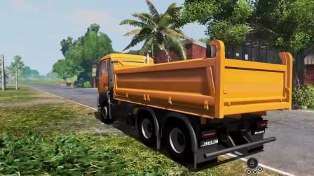 挖掘机视频207大卡车运输挖土机+挖机工作+工程车