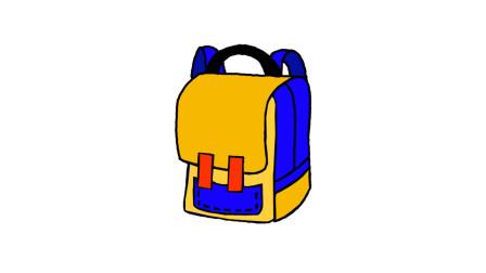 简单易学的背包简笔画 - 一步一步教你画