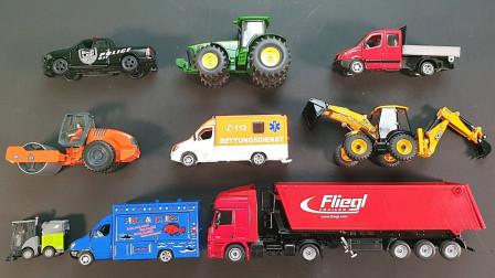最新挖掘机视频表演1090大卡车恐龙玩具+挖机工作+工程车
