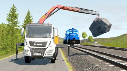 最新挖掘机视频表演75大卡车运输挖土机+挖机工作+工程车