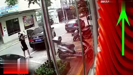 江西新余市:女司机路边侧方位停车,耗时五分钟后含泪离去,监控拍下全过程
