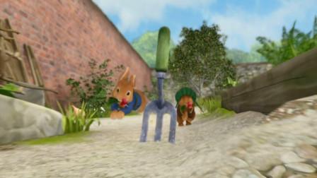 比得兔:小兔子偷萝卜,不料被发现了,被无情