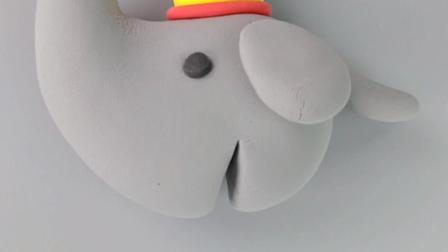 简单益智的儿童超轻粘土教程—大象超轻粘土手工教程
