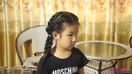 儿童简单编发教程,手把手教你给女儿扎菠萝辫,清爽利索轻松度夏
