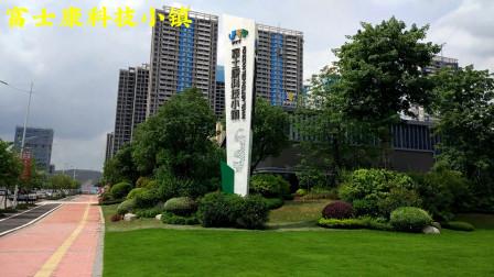 广州市增城区地铁21号线风岗地铁站处风光,看富士康科技小镇,高楼大厦