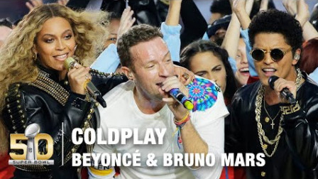 Coldplay's FULL Pepsi Super Bowl 50 Halftime Show feat. Beyoncé & Bruno Mar...