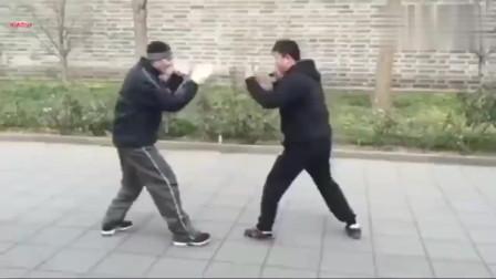 能断树的戳脚究竟踢到人会如何?传统武术戳脚翻子拳实战演示