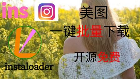 一键批量下载ins照片 | instaloader | 开源免费 | ins照片下载 | No_0017