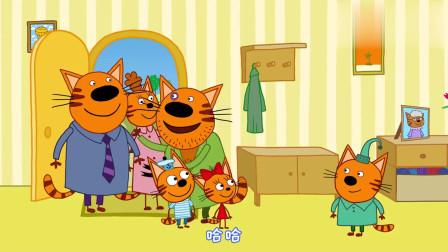 咪好一家:马芬来到家里照顾小猫们,家里乱成一片