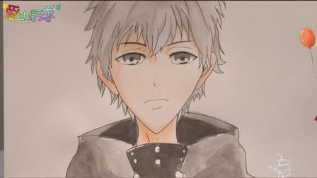 漫画 简笔画东京喰种头发由乌黑变为苍白的金,来一起画吧,很简单