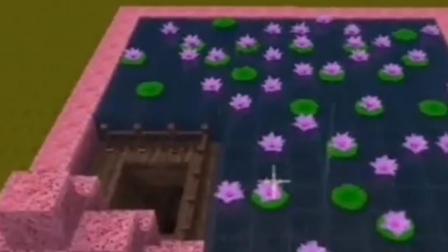 迷你世界:桃花地下室,看起来好像公主城堡!