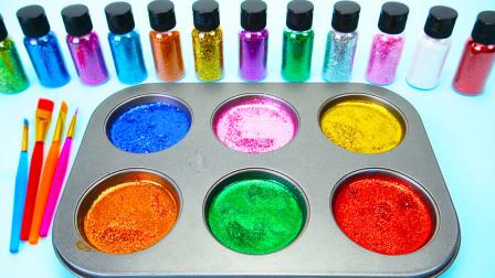冰淇淋玩具 闪粉制作的闪亮棒棒糖 教小朋友认识多种颜色