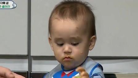 超人回来了:本特利第一次吃芹菜抹花生酱就被这味道迷住了