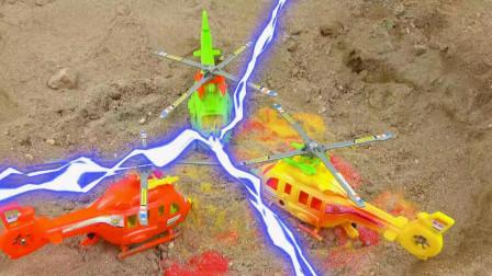 汽车和直升飞机玩具试玩,儿童益智卡通,婴幼儿宝宝过家家游戏视频