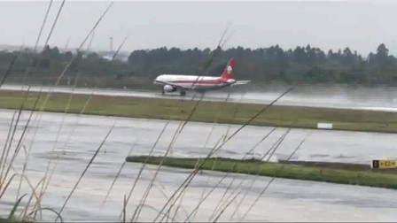 机场旁边看见飞机起飞,瞬间感觉中国科技的发达,人真的可以上天了!
