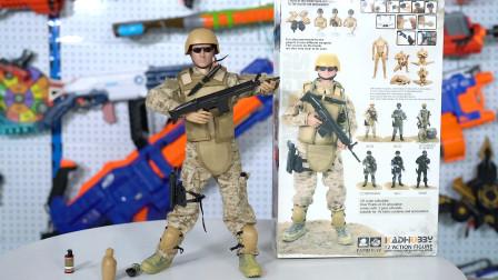 1: 6海豹突击队军事人偶模型,只花了60元,配件也太丰富了