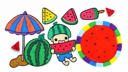 夏日西瓜冰淇淋小玩偶图像制作