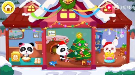宝宝巴士欢乐圣诞游戏,帮助妙妙制作圣诞姜饼屋