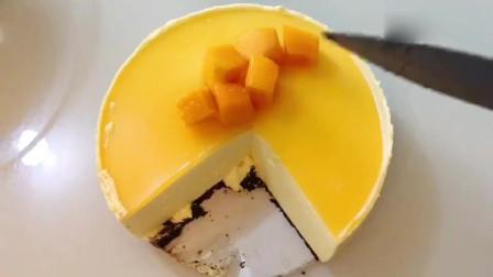 不用烤箱,在家就能做的芒果慕斯蛋糕,口感细腻顺滑,入口即化